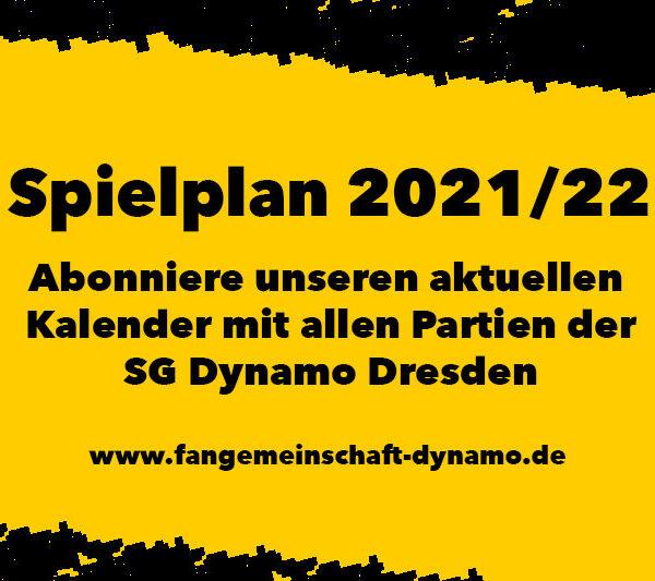 Dynamo-Spielplan 2021/2022