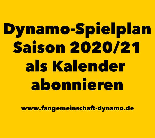 Dynamo-Spielplan Kalender