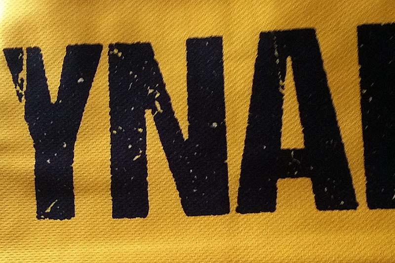 Seidenschal mit Logo und Motto