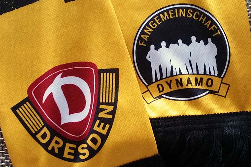 Dynamo-Logo auf Seidenschal