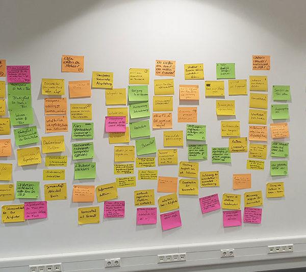Ideensammlung im Workshop